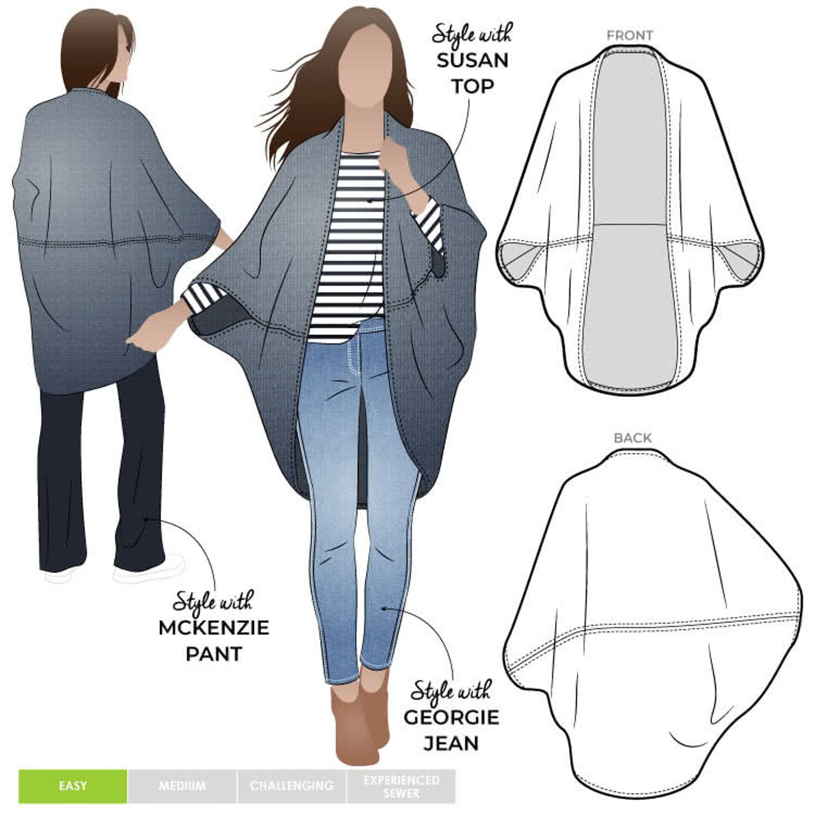 Style Arc Salma Wrap Pattern