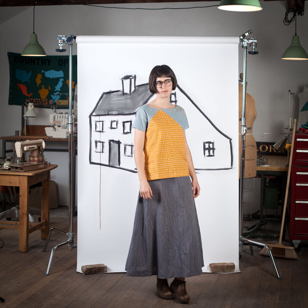 Blueprints For Sewing Saltbox Tee and Tank Pattern