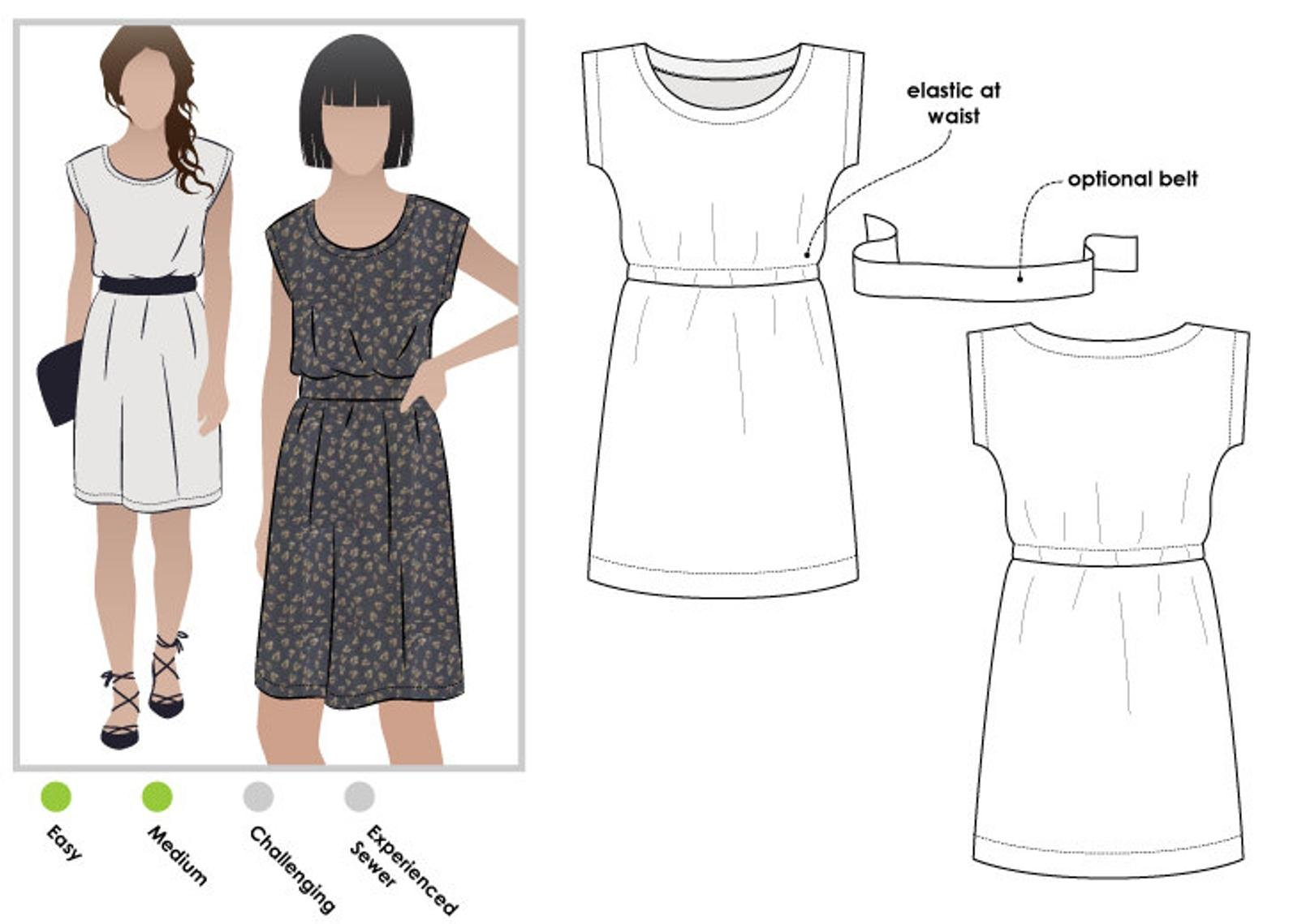 Style Arc Olivia Dress Pattern - Sizes 4-16 or 18-30