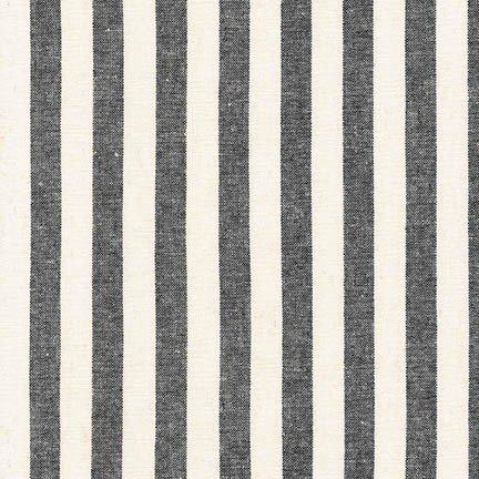 Essex Yarn Dyed Classic Wovens - Black 1/2 Stripe