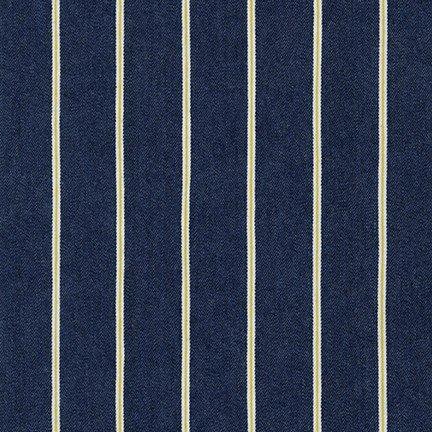 Cotton Tencel Washed Denim Stripe 5.8 oz,  57