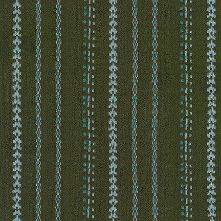 Athena Gauze Yarn Dye Cotton 42 - Olive