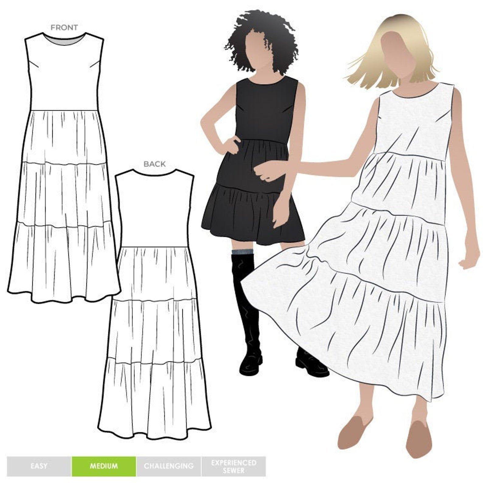 Style Arc Nova Midi Dress - Sizes 4-16 or 18-30
