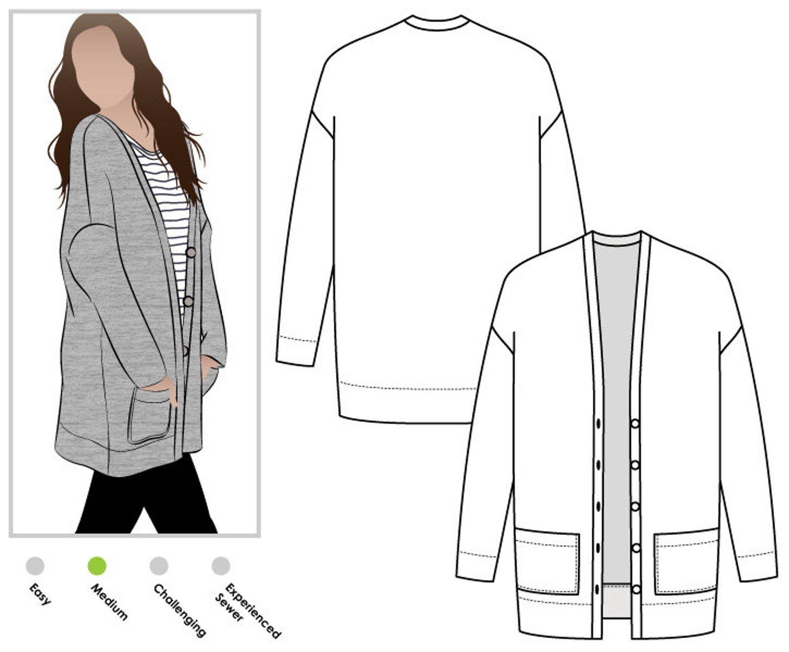 Style Arc Sabel Boyfriend Knit Cardi