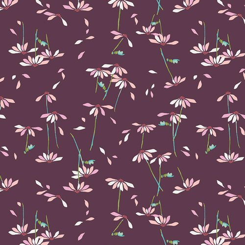 Art Gallery Fabrics Cotton Voile - Loves Me Plum 52