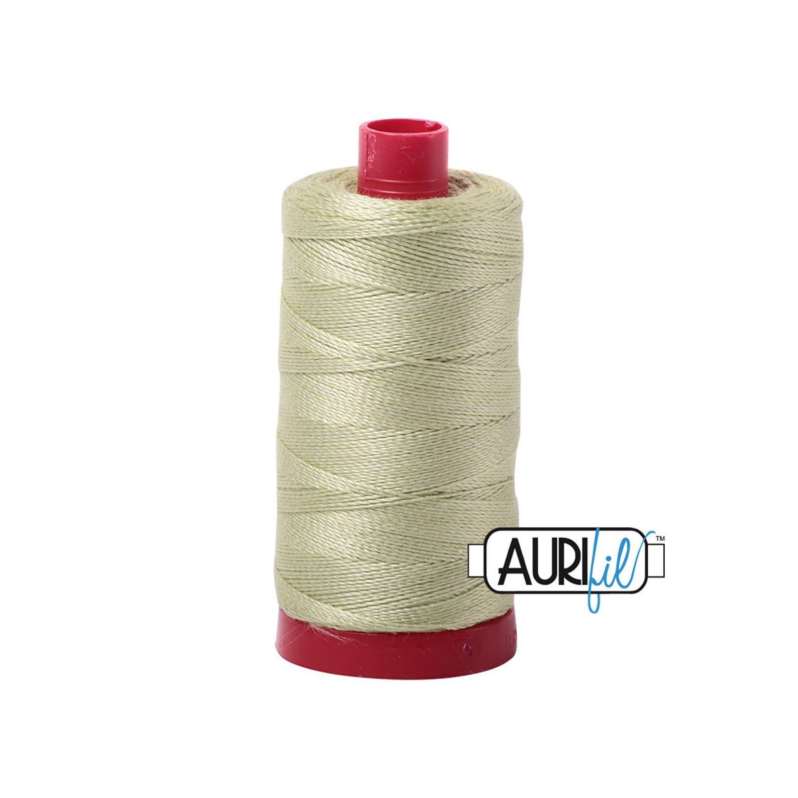 Mako Cotton Embroidery Thread 12wt 356yds Light Avacado