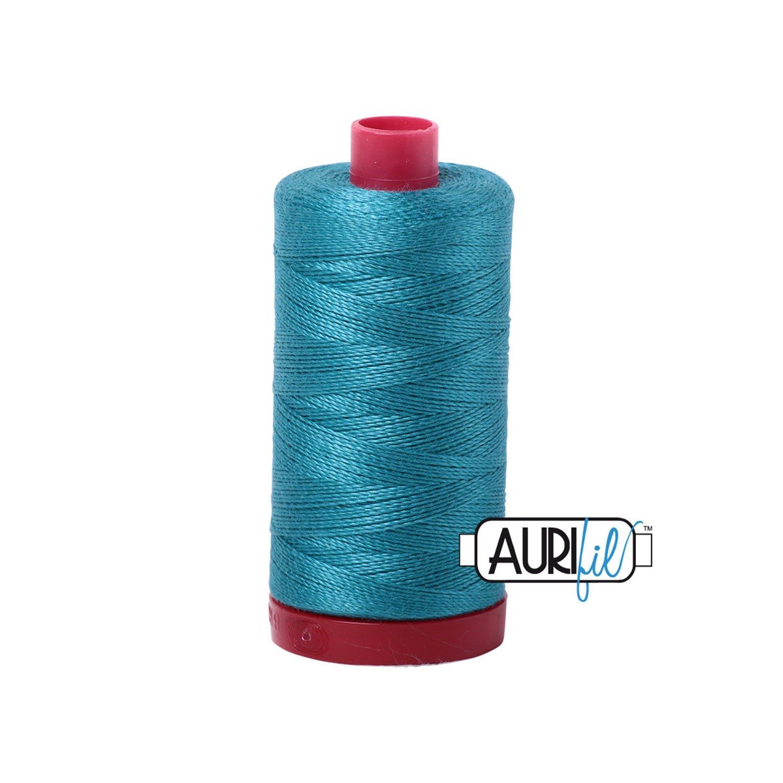 Mako Cotton Embroidery Thread 12wt 356yds Dark Turquoise