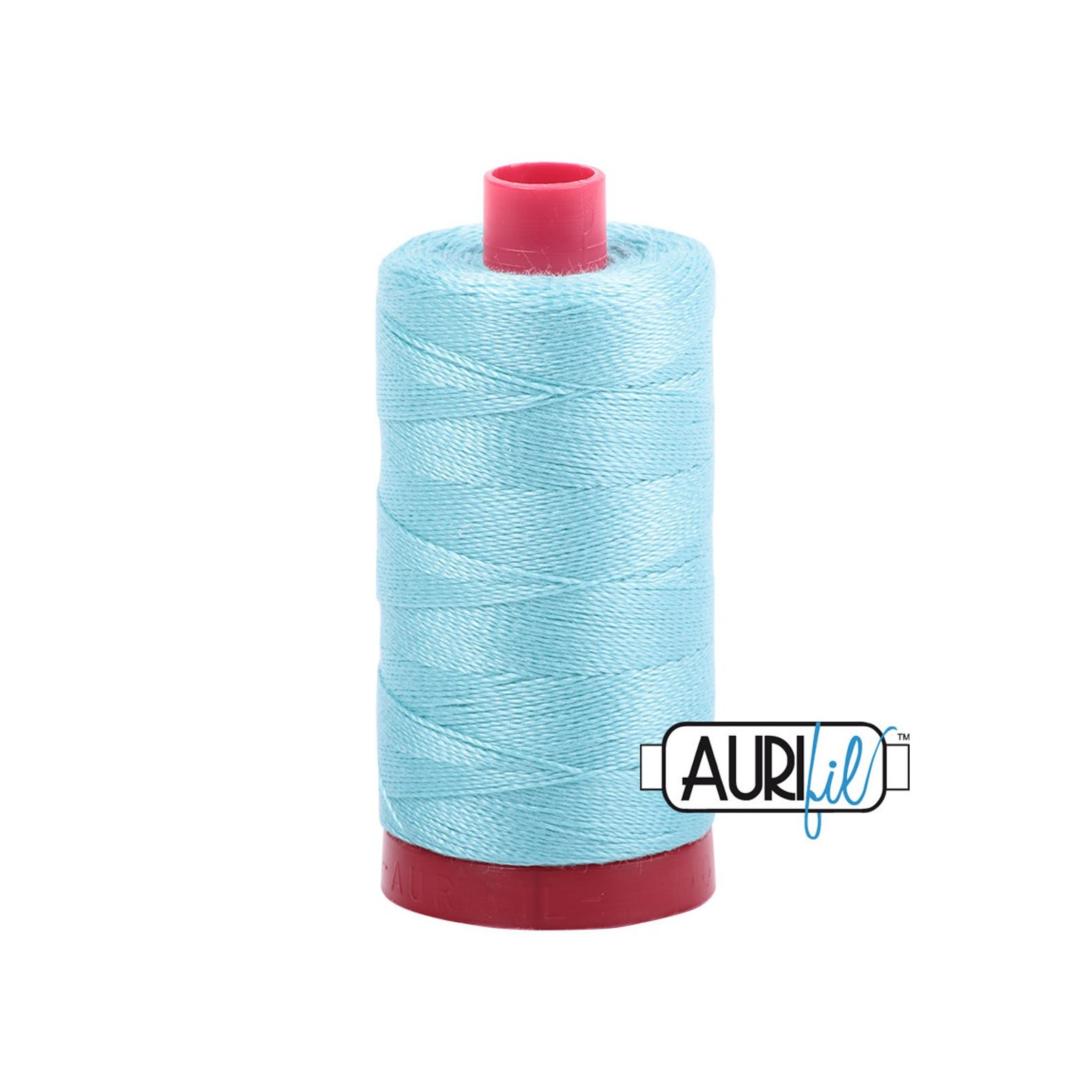 Mako Cotton Embroidery Thread 12wt 356yds Light Turquoise