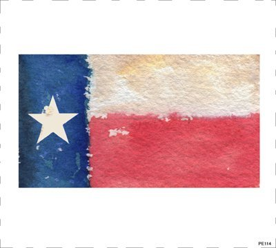 Texas Flag Block Art