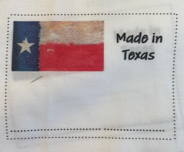 Quilt Label Made In Texas
