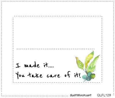 Quilt Label Take Care of It