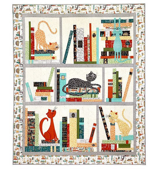 Purrfect Bookcase Quilt Kit