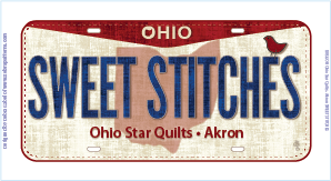 2016 Row by Row License Plate - Sweet Stitches