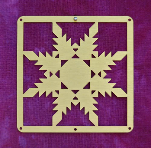 Barn Quilt Brass Mini--Feathered Star Block