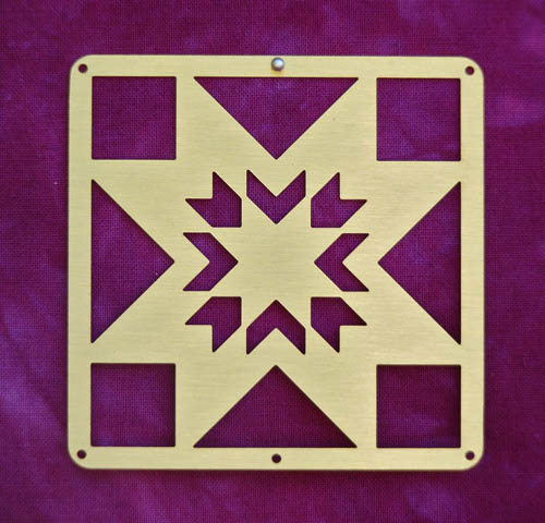 Barn Quilt Brass Mini--Lone Star Block