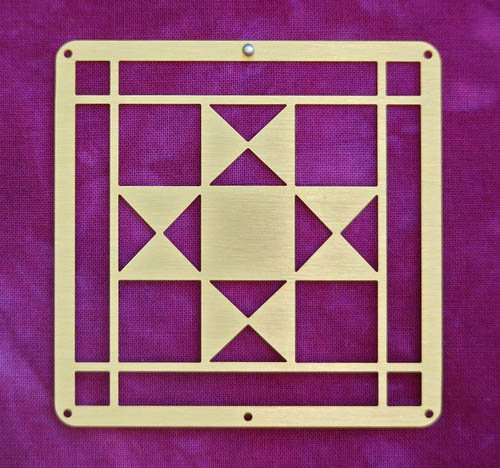 Barn Quilt Brass Mini--Ohio Star Block