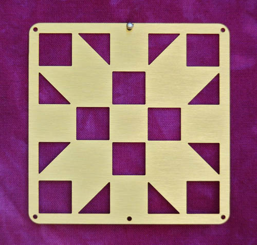Barn Quilt Brass Mini--Sister's Choice Block