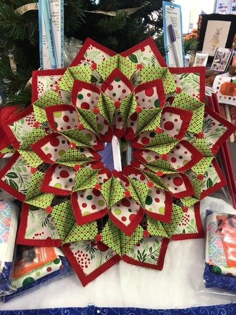 Fold'n Stitch Wreath Plus Fascinating Fold And Stitch Wreath Pattern