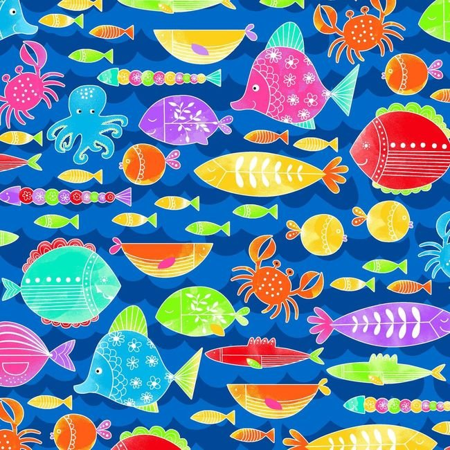 Studio e Fabrics Alpha Fish