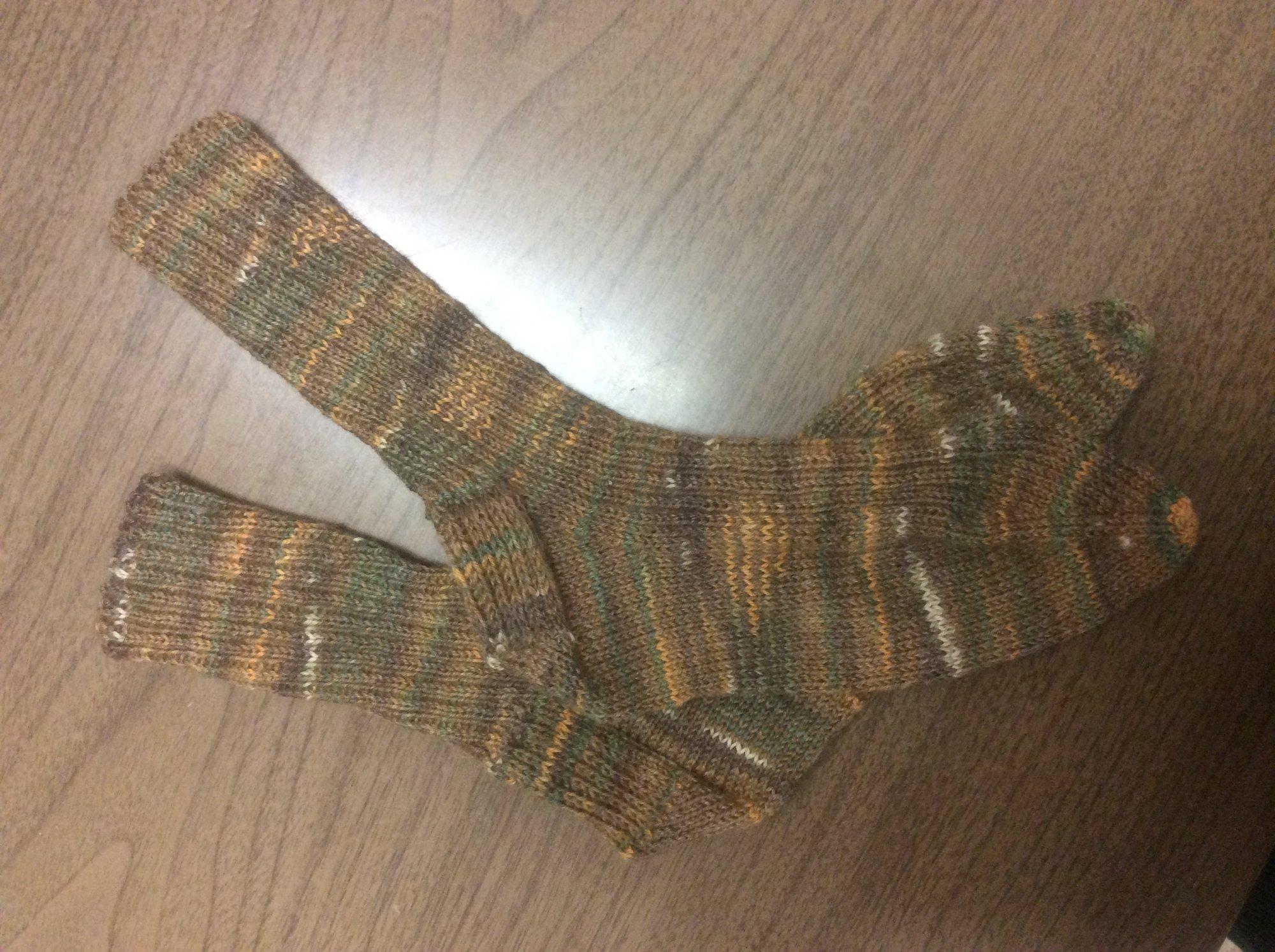 Hand-knit Wool Socks by Marva