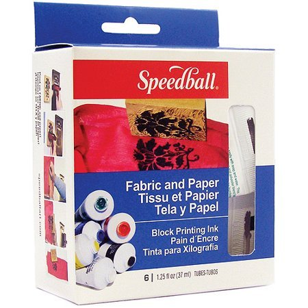 FABRIC AND PAPER BLOCK PRINT INK KIT