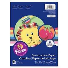 Const Paper Rainbow 9x12 96sh