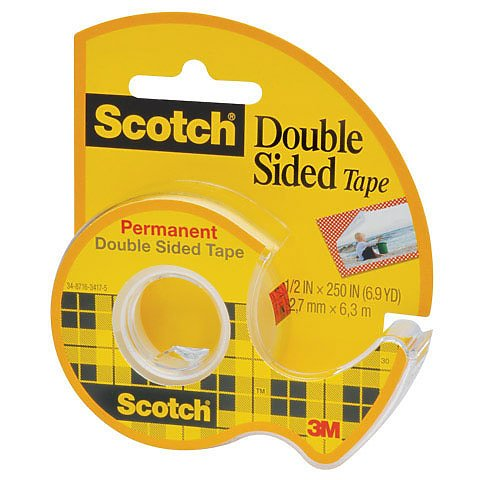 Scotch Double Sided Tape 1/2 x 250in