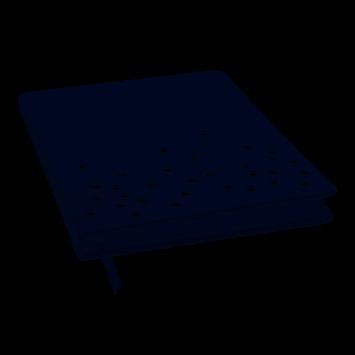 LTD Laser Dot Jrnl 6x8 Navy