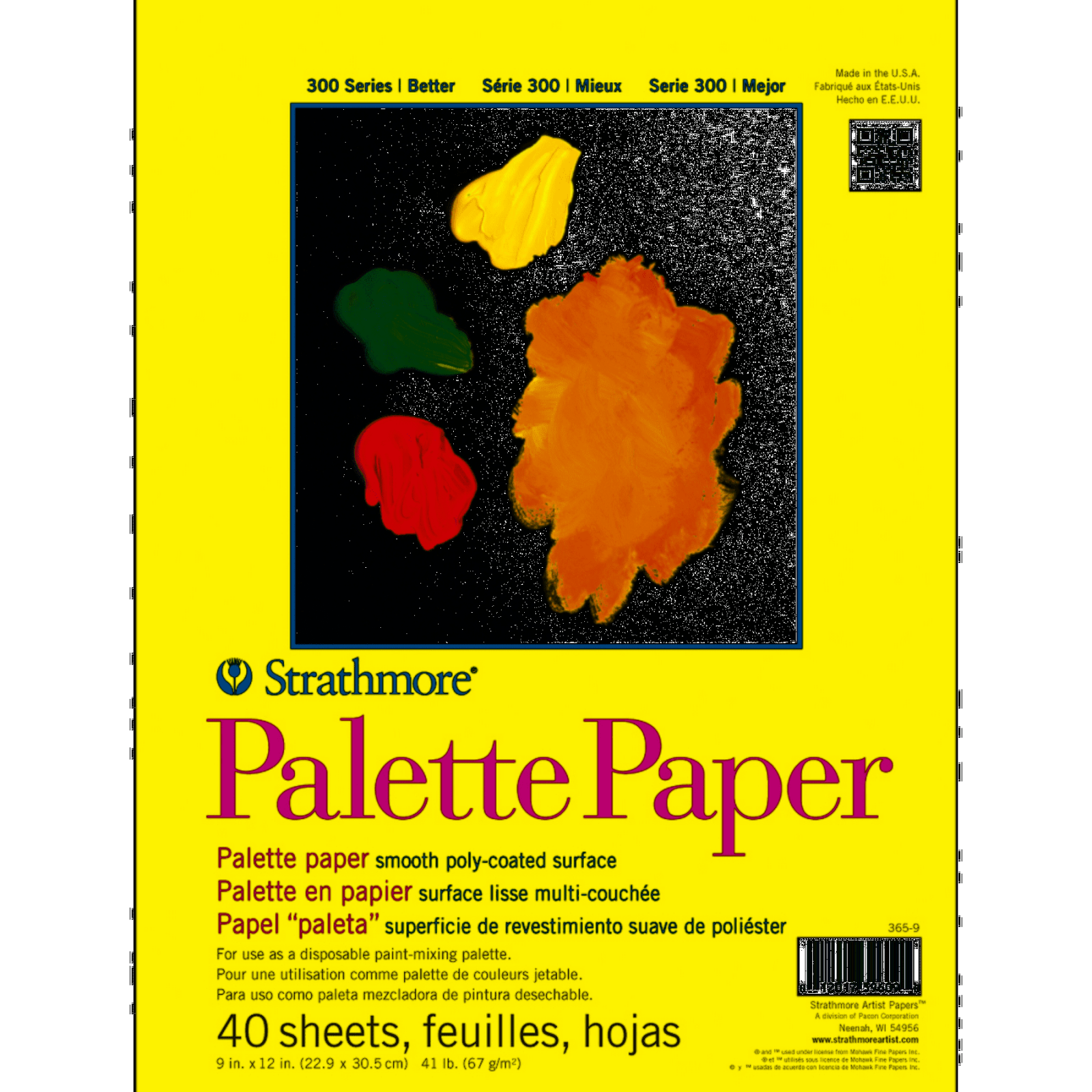 Disposable Paper Palette 9x12 40 Sh