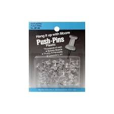 Push-pins Plastic Clear
