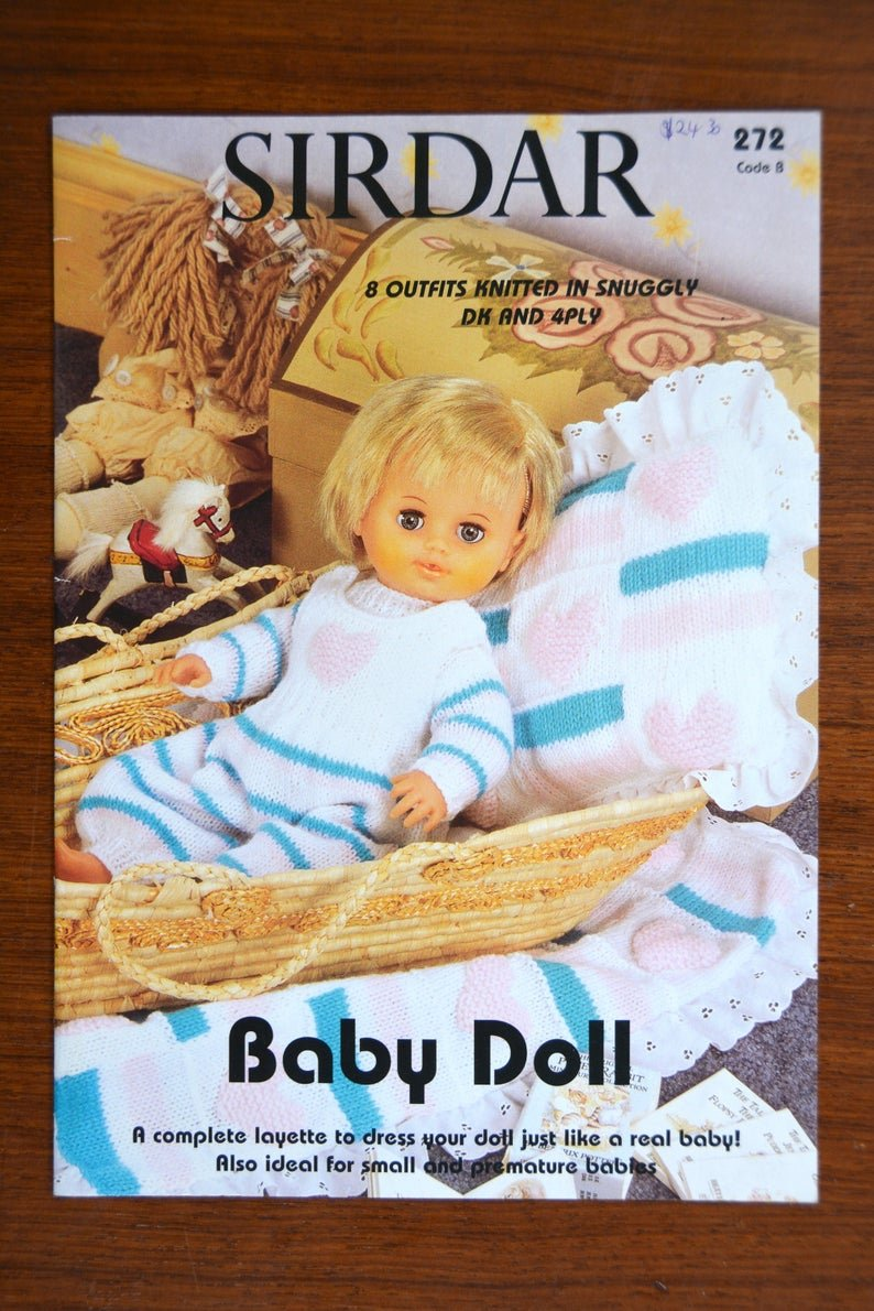 Sirdar 8 Outfits Knitted for Baby Doll