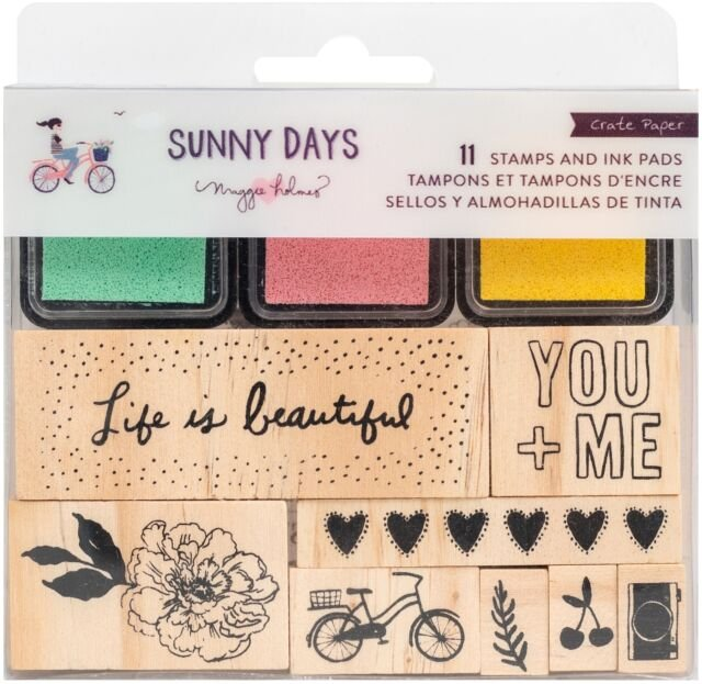 Stamps & Ink Pads-Maggie Holmes Sunny Days
