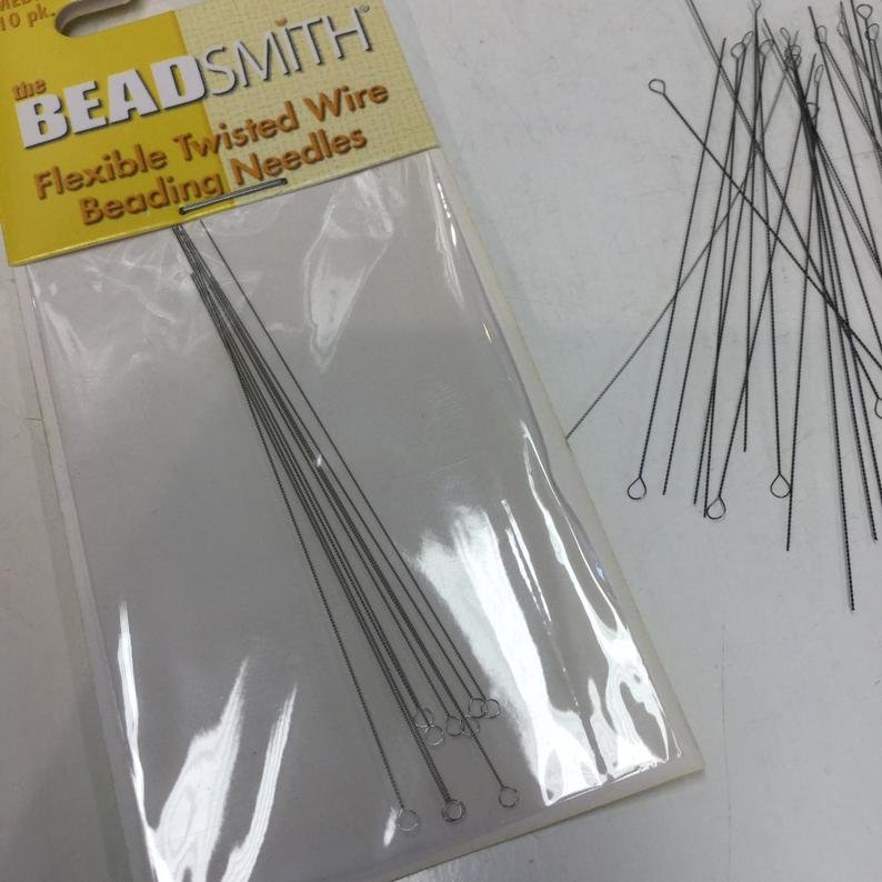 BeadSmith Flexible Twisted Wire Beading Needles fine   10pc