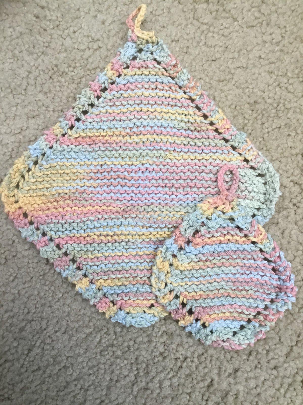 Handknit washcloth set