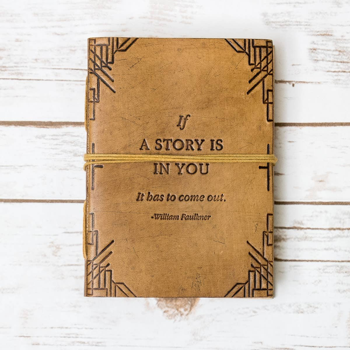 If A Story Is In You - handmade blonde leather journal - Soothi