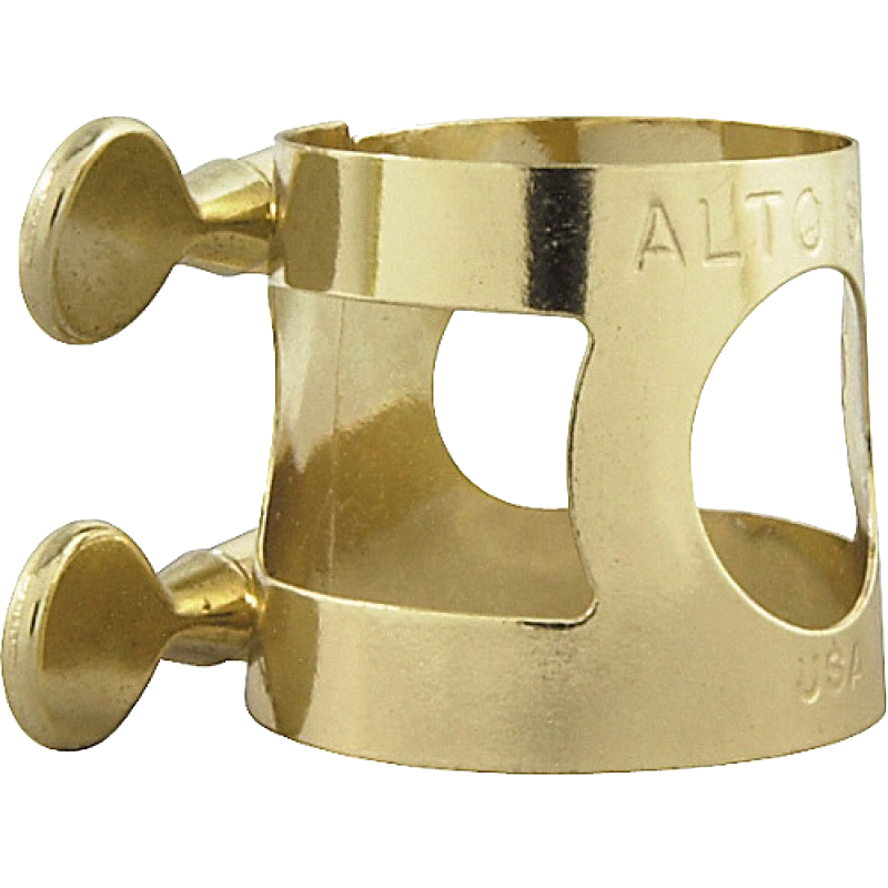 APM Alto Sax ligature, Brass, INDIVIDUAL