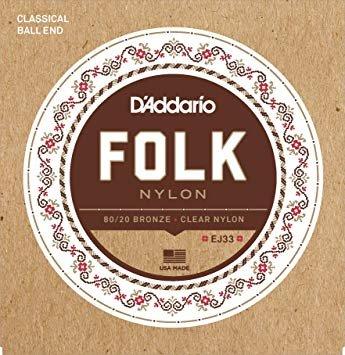 D'Addario Folk Nylon Ball End Strings