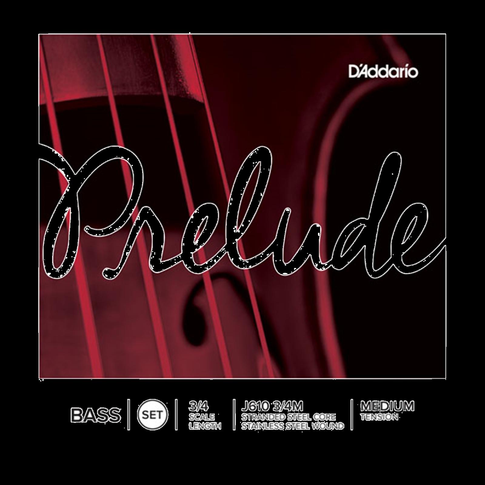 J610 3/4M Prelude Bass Strings, Set of 4, List $177