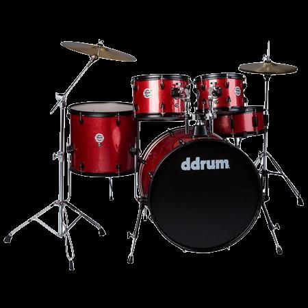 DDrum Red Sparkle 5 piece Complete Set