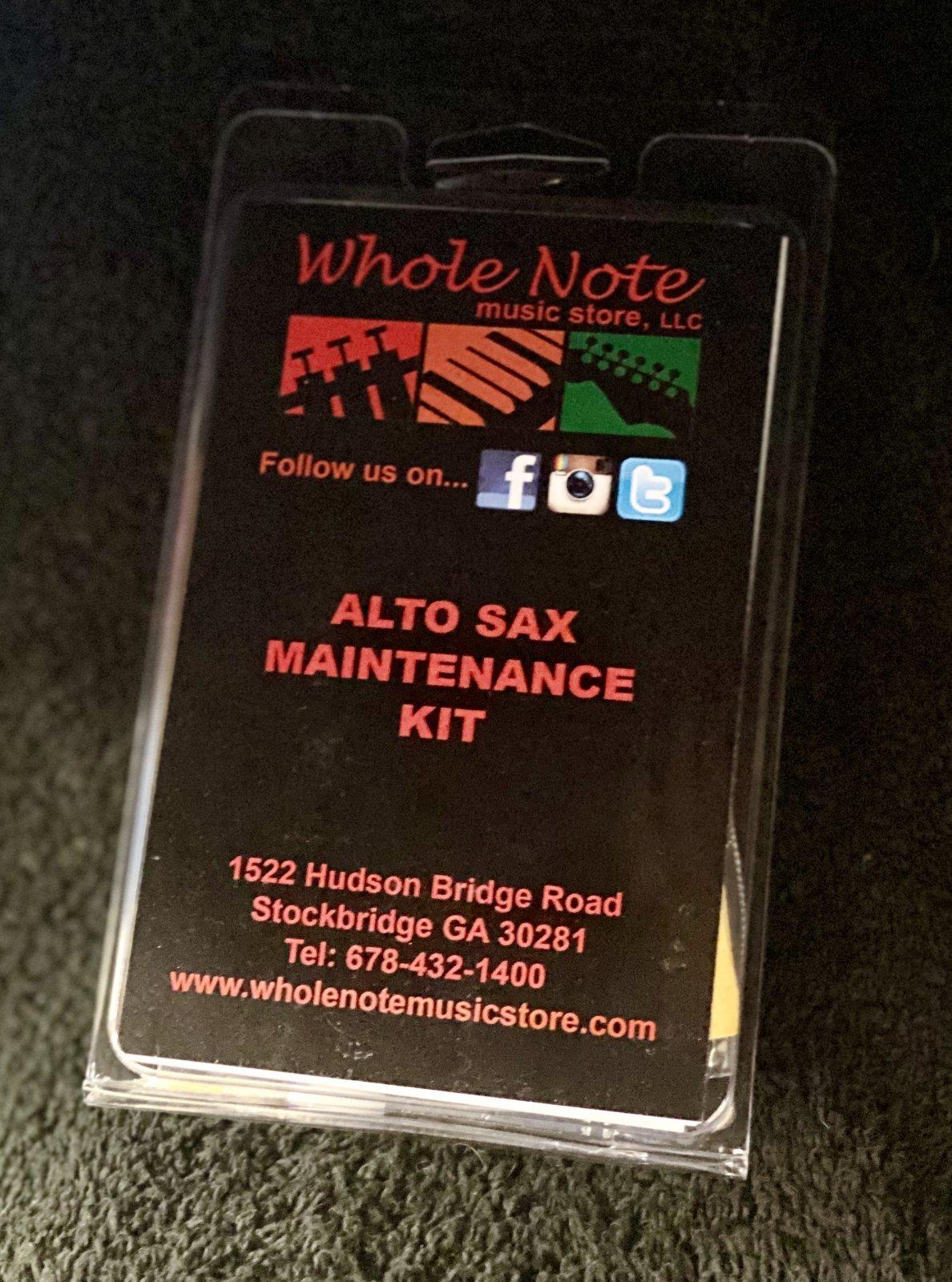 AW Alto Sax Maint Kit