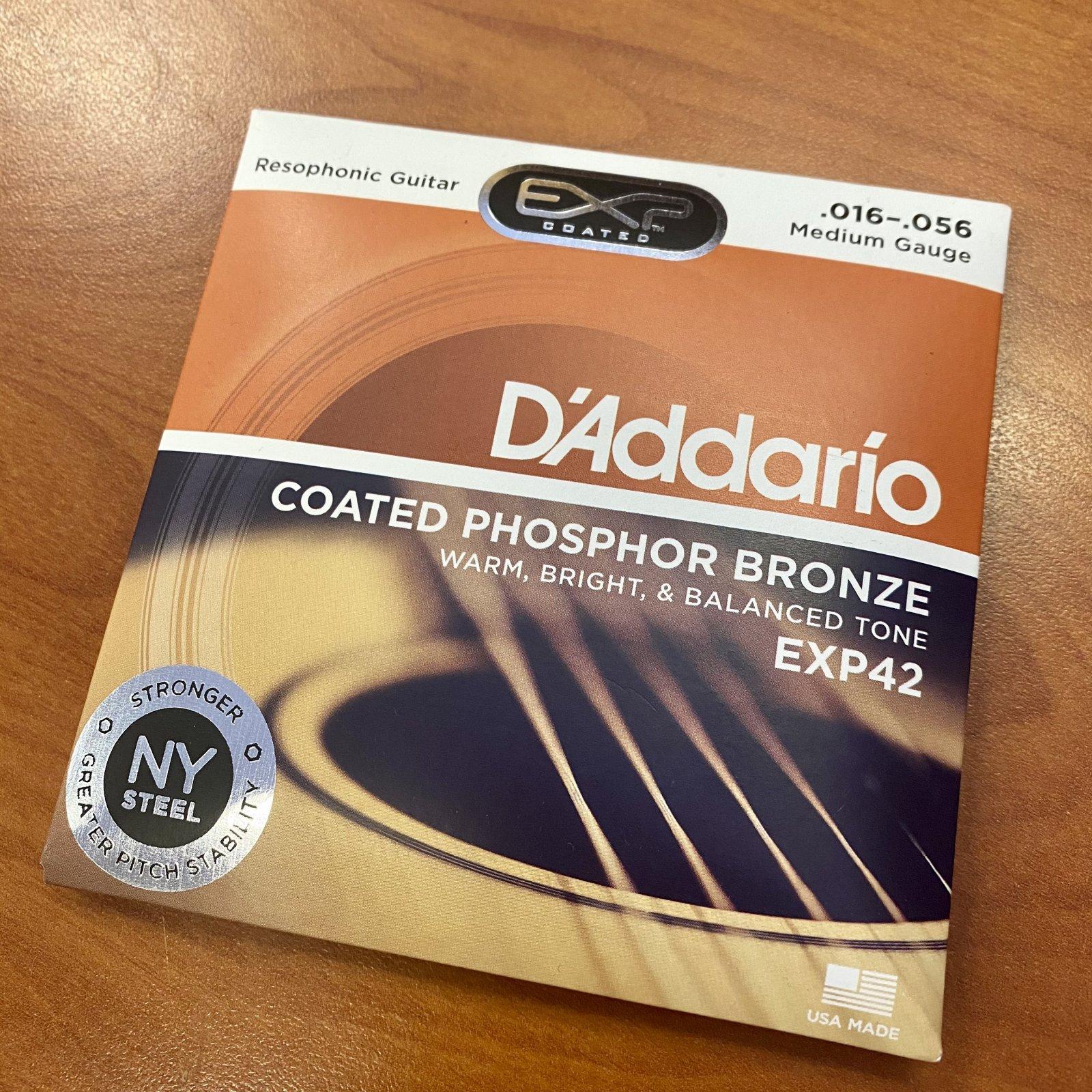 D'Addario EXP Phosphor Bronze Resophonic Guitar Strings