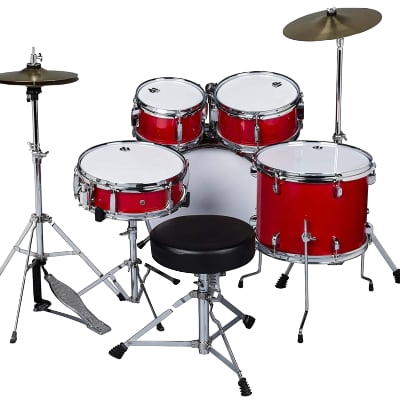 D1 CRD DDrums Jr 5pc w/hardware, Candy Red