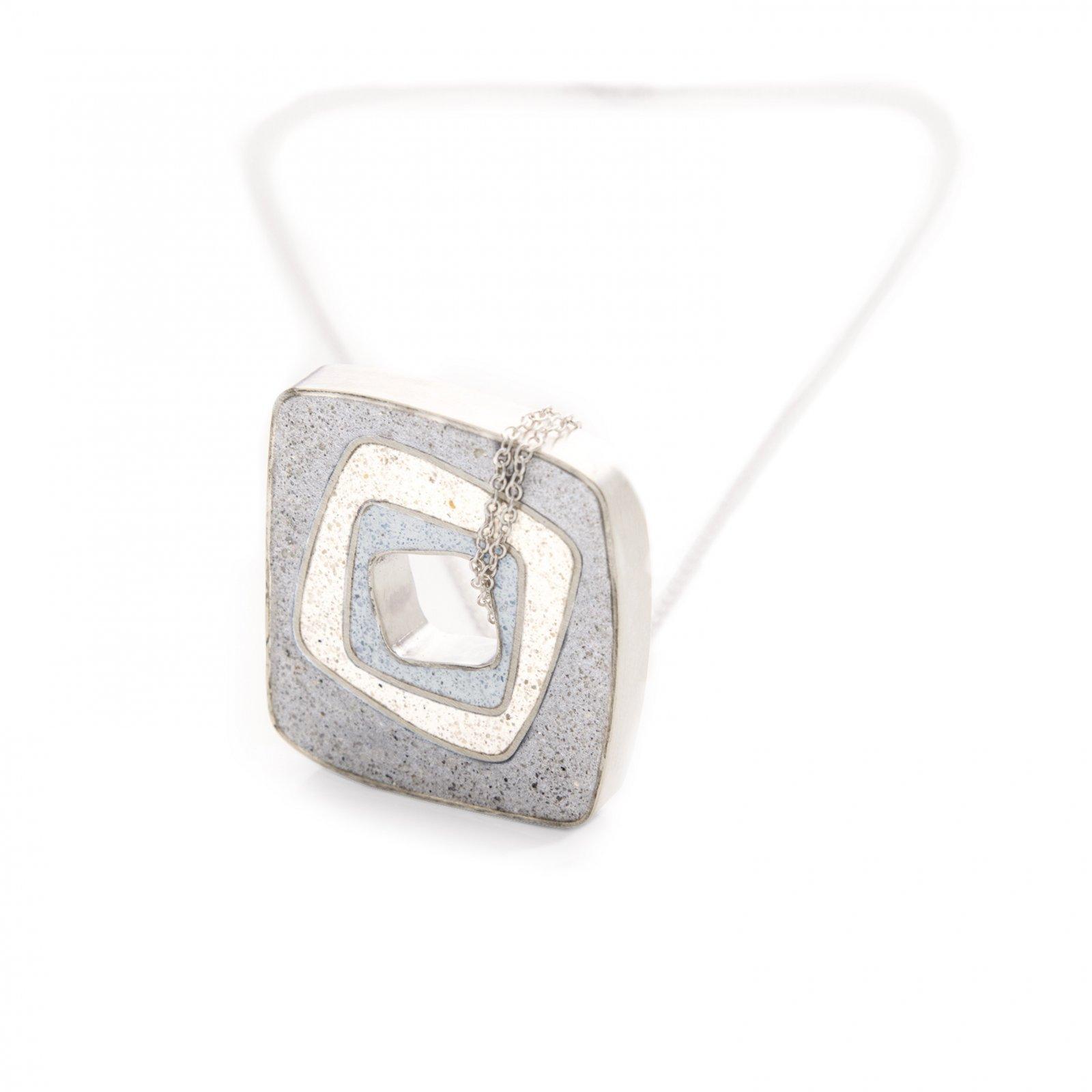 JLB Concrete Square Necklace