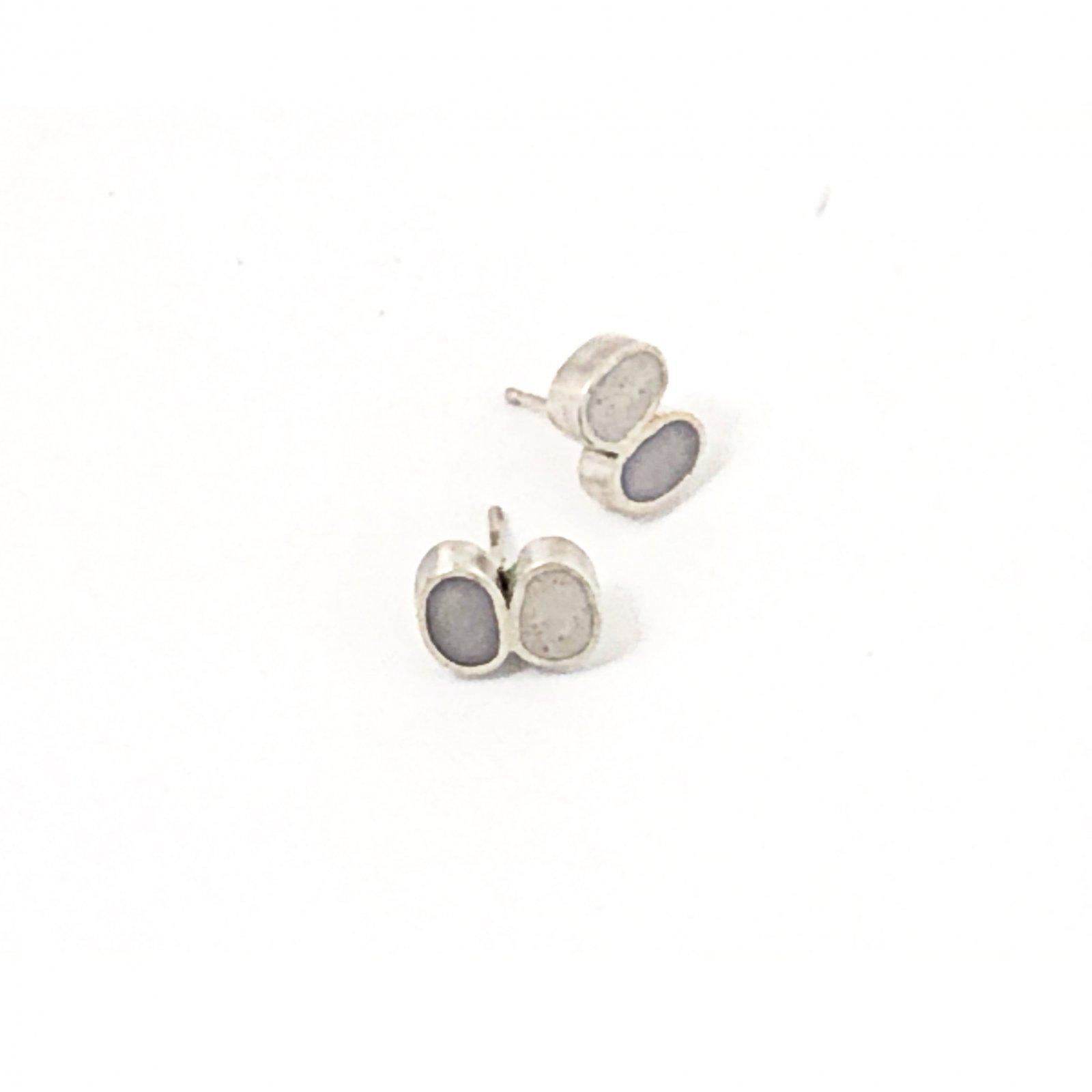JLB Concrete Pebble Stud Earrings