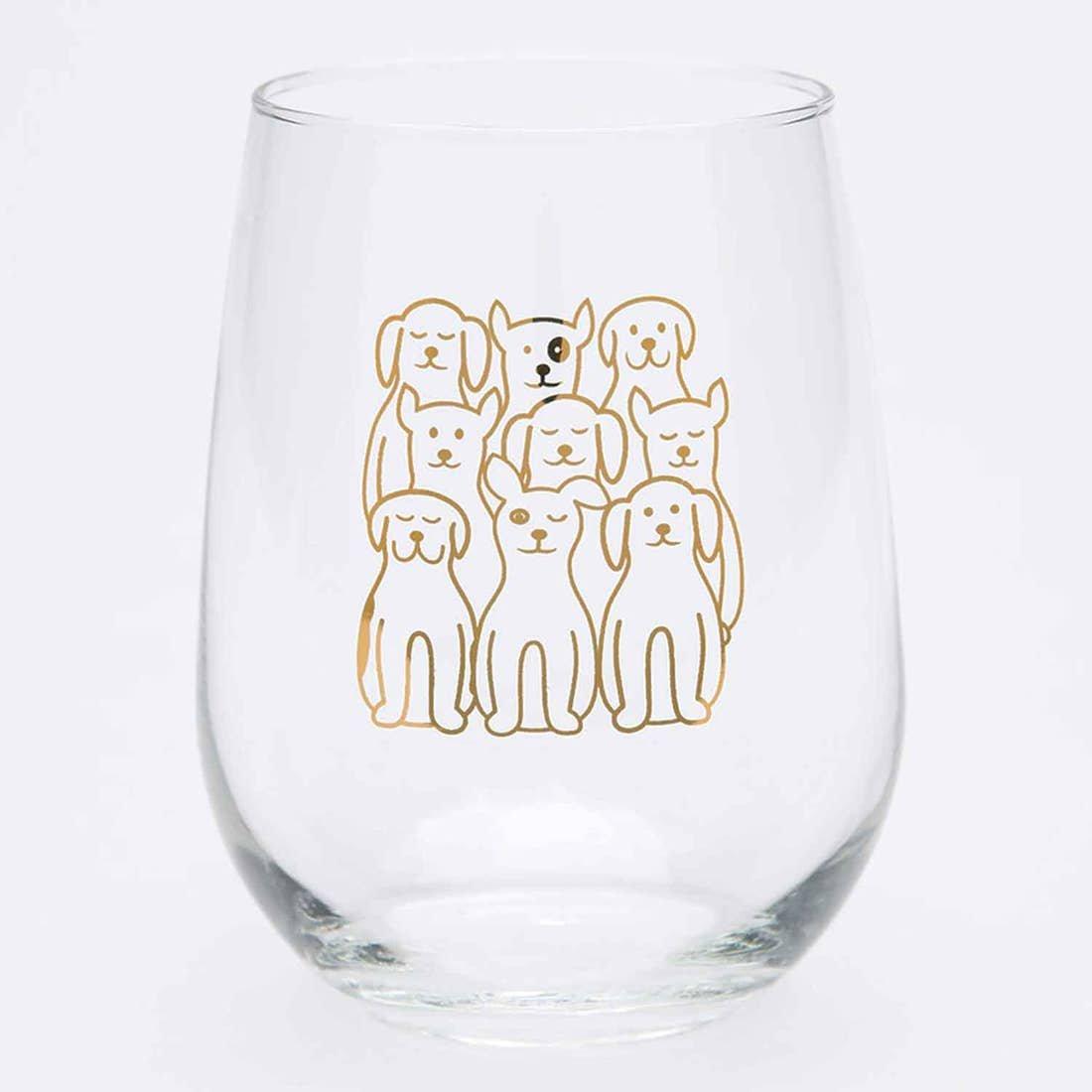 DOG STEMLESS WINE GLASS