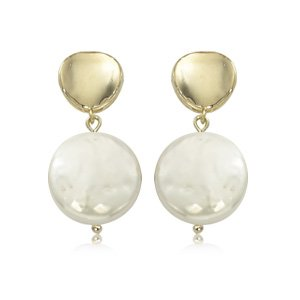 CARLA 14K GOLD AND PEARL EARRINGS