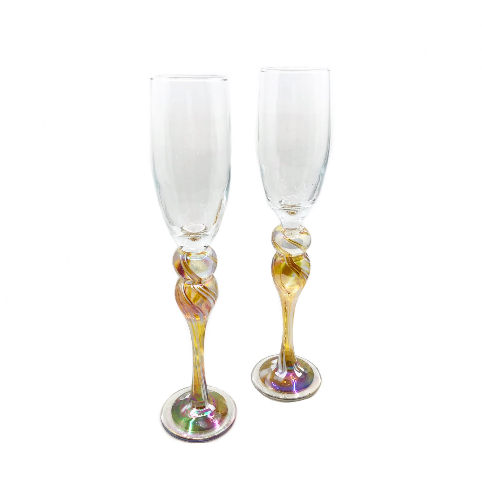 Rosetree Yellow Champagne Flute