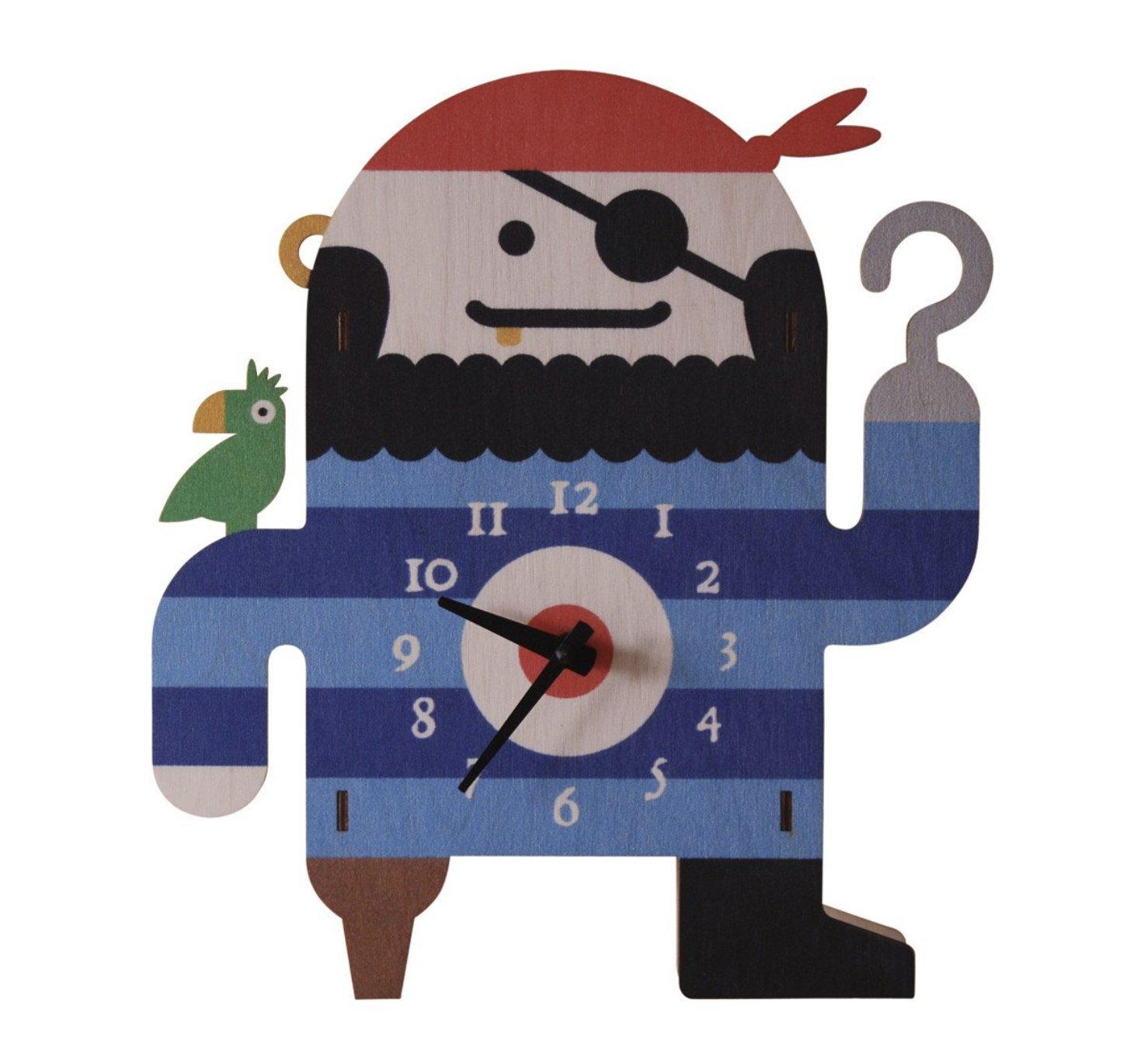 Modern Moose Pirate Clock