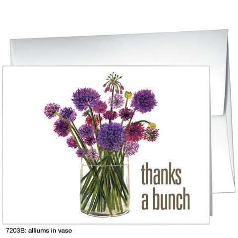 Printed Canvas Alliums