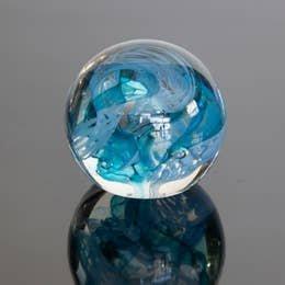 Epiphany Paperweight Circle of Life Aqua